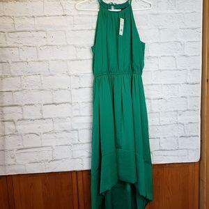 Banana Republic Green Hi-lo Dress NWT 8 Pe…